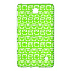 Lime Green And White Owl Pattern Samsung Galaxy Tab 4 (8 ) Hardshell Case