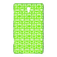 Lime Green And White Owl Pattern Samsung Galaxy Tab S (8.4 ) Hardshell Case