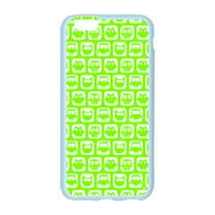 Lime Green And White Owl Pattern Apple Seamless iPhone 6 Case (Color)