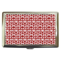 Red And White Owl Pattern Cigarette Money Cases