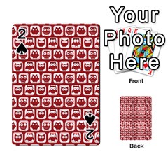 Red And White Owl Pattern Playing Cards 54 Designs
