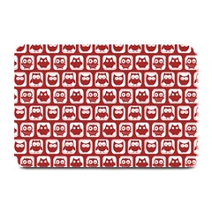 Red And White Owl Pattern Plate Mats