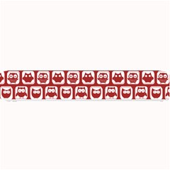 Red And White Owl Pattern Small Bar Mats