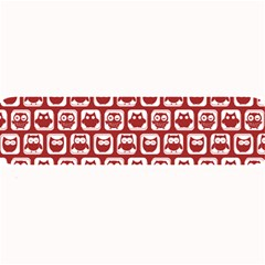 Red And White Owl Pattern Large Bar Mats