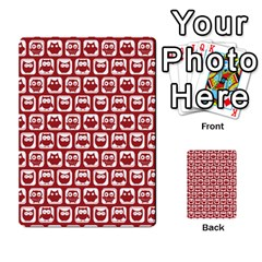 Red And White Owl Pattern Multi Purpose Cards (rectangle)