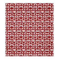 Red And White Owl Pattern Shower Curtain 66  x 72  (Large)