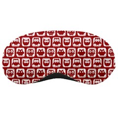 Red And White Owl Pattern Sleeping Masks