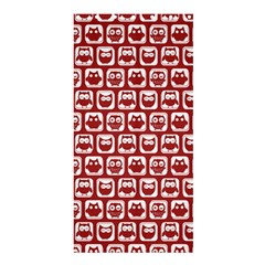 Red And White Owl Pattern Shower Curtain 36  X 72  (stall)