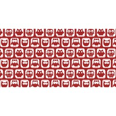 Red And White Owl Pattern You Are Invited 3d Greeting Card (8x4)