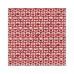 Red And White Owl Pattern Acrylic Tangram Puzzle (6  X 6 )