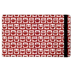 Red And White Owl Pattern Apple iPad 3/4 Flip Case