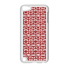Red And White Owl Pattern Apple iPod Touch 5 Case (White)