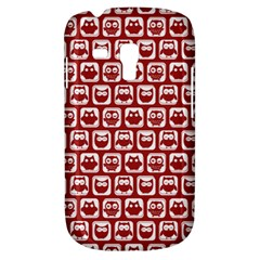 Red And White Owl Pattern Samsung Galaxy S3 MINI I8190 Hardshell Case