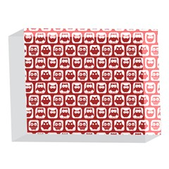 Red And White Owl Pattern 5 x 7  Acrylic Photo Blocks