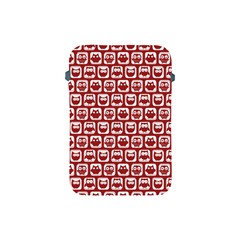 Red And White Owl Pattern Apple iPad Mini Protective Soft Cases