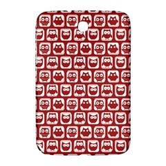 Red And White Owl Pattern Samsung Galaxy Note 8.0 N5100 Hardshell Case