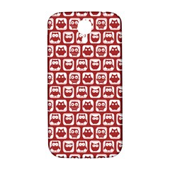 Red And White Owl Pattern Samsung Galaxy S4 I9500/I9505  Hardshell Back Case