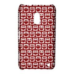 Red And White Owl Pattern Nokia Lumia 620