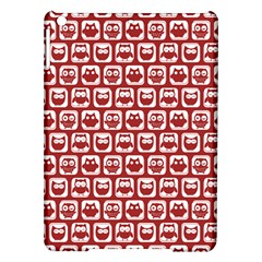 Red And White Owl Pattern iPad Air Hardshell Cases