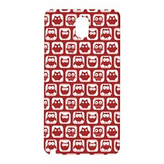 Red And White Owl Pattern Samsung Galaxy Note 3 N9005 Hardshell Back Case