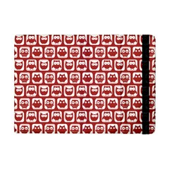 Red And White Owl Pattern iPad Mini 2 Flip Cases