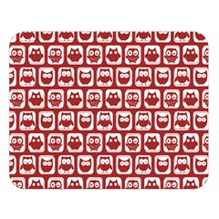 Red And White Owl Pattern Double Sided Flano Blanket (Large)