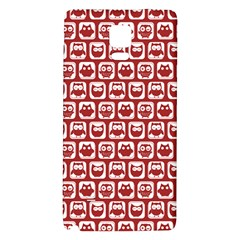 Red And White Owl Pattern Galaxy Note 4 Back Case