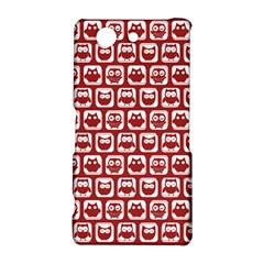 Red And White Owl Pattern Sony Xperia Z3 Compact
