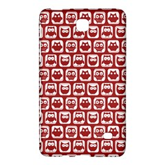 Red And White Owl Pattern Samsung Galaxy Tab 4 (8 ) Hardshell Case