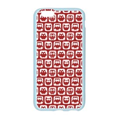 Red And White Owl Pattern Apple Seamless iPhone 6 Case (Color)