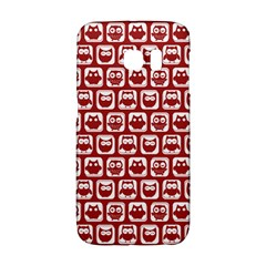 Red And White Owl Pattern Galaxy S6 Edge