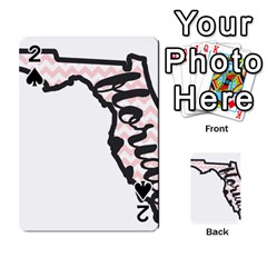 Florida Map Pride Chevron Playing Cards 54 Designs