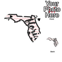 Florida Map Pride Chevron Playing Cards 54 (Heart)