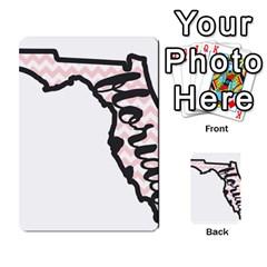 Florida Map Pride Chevron Multi Purpose Cards (rectangle)