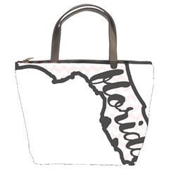 Florida Map Pride Chevron Bucket Bags