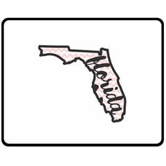Florida Map Pride Chevron Fleece Blanket (Medium)