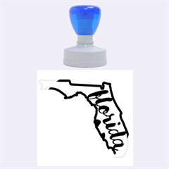 Florida Map Pride Chevron Rubber Round Stamps (Large)