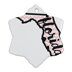 Florida Map Pride Chevron Ornament (snowflake)