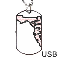 Florida Map Pride Chevron Dog Tag USB Flash (Two Sides)