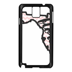 Florida Map Pride Chevron Samsung Galaxy Note 3 N9005 Case (Black)