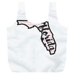 Florida Map Pride Chevron Full Print Recycle Bags (l)