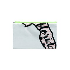 Florida Map Pride Chevron Cosmetic Bag (XS)