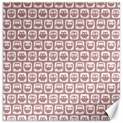 Light Pink And White Owl Pattern Canvas 16  X 16