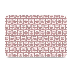 Light Pink And White Owl Pattern Plate Mats