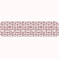 Light Pink And White Owl Pattern Large Bar Mats