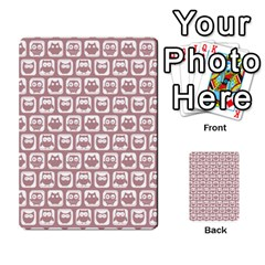 Light Pink And White Owl Pattern Multi-purpose Cards (Rectangle)