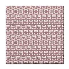 Light Pink And White Owl Pattern Face Towel