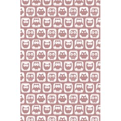 Light Pink And White Owl Pattern 5 5  X 8 5  Notebooks