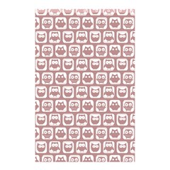 Light Pink And White Owl Pattern Shower Curtain 48  x 72  (Small)