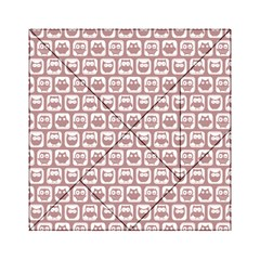 Light Pink And White Owl Pattern Acrylic Tangram Puzzle (6  x 6 )
